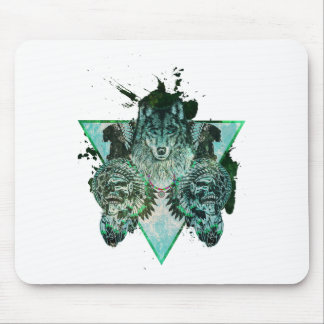 Wellcoda Wolf Indian Curse Native Force Mouse Pad