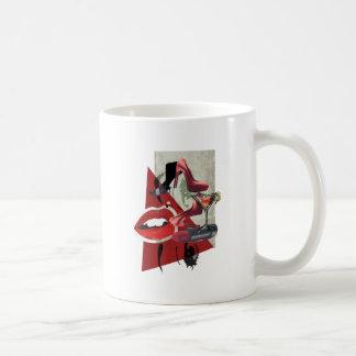 Wellcoda Women Red Lip Fashion Glamour Coffee Mug