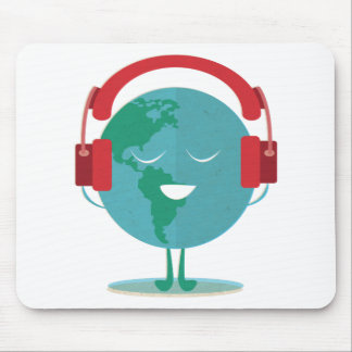 Wellcoda World Beats Music Global Tune Mouse Pad