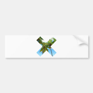 Wellcoda X Cross Paradise Vote Holiday Fun Bumper Sticker