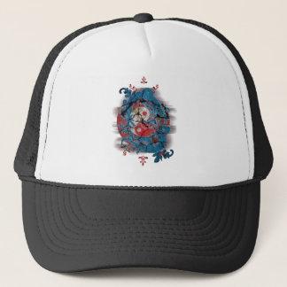 Wellcoda Yin Yang Dragon Life Male Female Trucker Hat