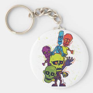 Wellcoda Zombie Apocalypse Monster Family Keychain