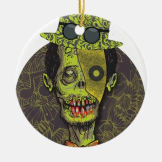 Wellcoda Zombie Dead Monster Scary Creepy Ceramic Ornament