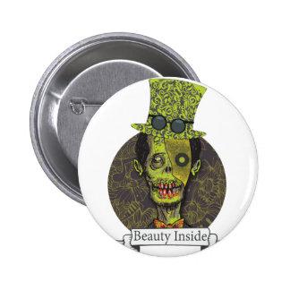 Wellcoda Zombie Dead Monster Scary Creepy Pinback Button