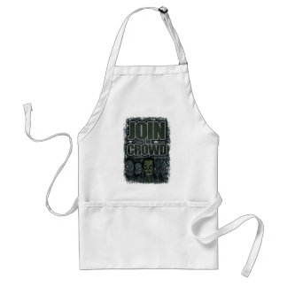 Wellcoda Zombie Monster Crowd Dead Scary Adult Apron