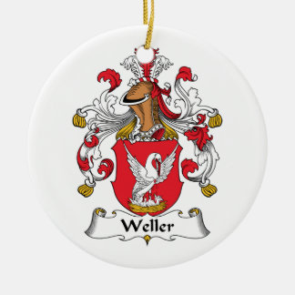 Weller Family Crest Christmas Ornament