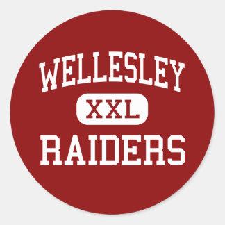 Wellesley - asaltantes entrenados para la lucha cu etiqueta redonda
