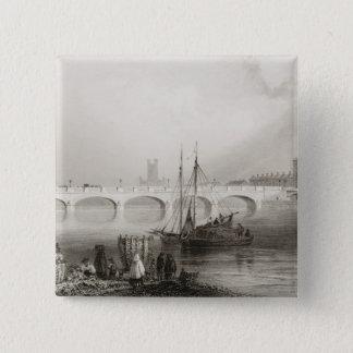 Wellesley Bridge, Limerick, Ireland Button