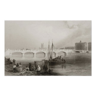 Wellesley Bridge, Limerick, Ireland Poster