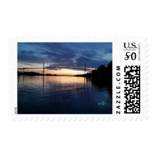 Wellesley Island Bridge Sunset Stamps