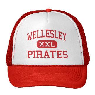 Wellesley - piratas - alto - Wellesley Gorros Bordados