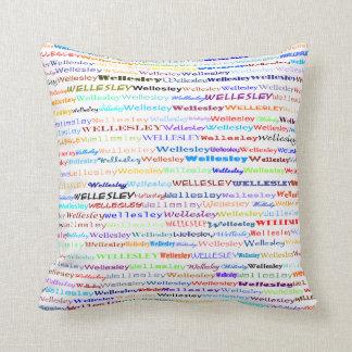 Wellesley Text Design II Throw Pillow