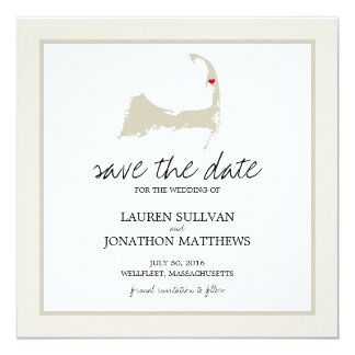 Wellfleet Cape Cod Wedding Save the Date Card