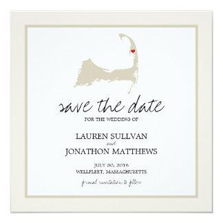 Wellfleet Cape Cod Wedding Save the Date Card