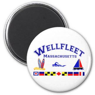 Wellfleet MA Signal Flags Magnet