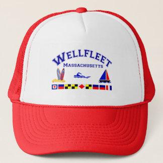 Wellfleet MA Signal Flags Trucker Hat