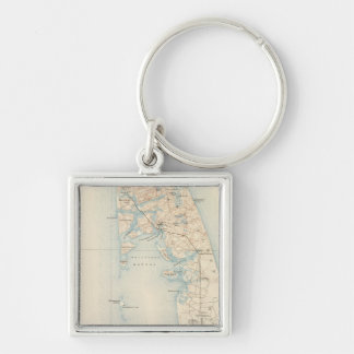 Wellfleet, Massachusetts Silver-Colored Square Keychain