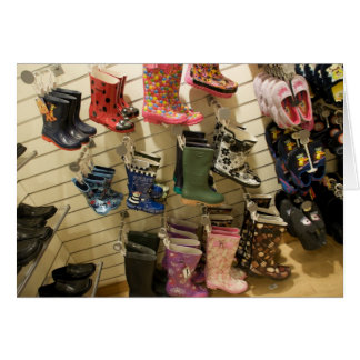 Wellies for sale greeting card