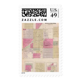 Wellington, Beaumont, Brainar,d and Benton, Kansas Postage Stamp