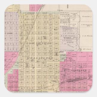 Wellington, Beaumont, Brainar,d and Benton, Kansas Stickers
