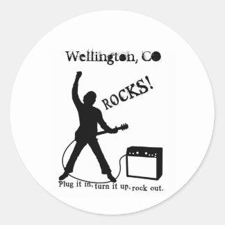 Wellington, CO Round Sticker