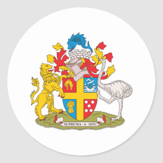 Wellington Coat Of Arms Round Stickers