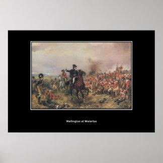 Wellington en el poster del vintage de Waterloo