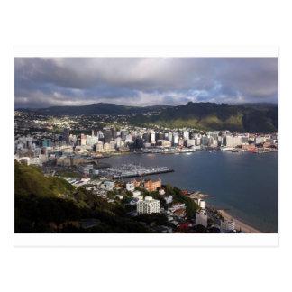 Wellington Harbour, New Zealand Postcard