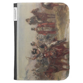 Wellington in Spain (oil on panel) (pair of 124470 Kindle Folio Case