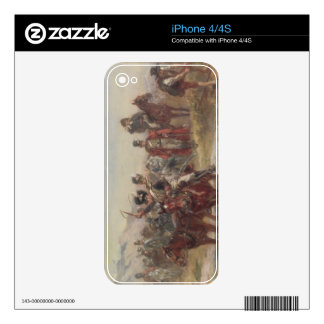 Wellington in Spain (oil on panel) (pair of 124470 Decal For iPhone 4