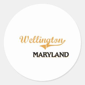 Wellington Maryland Classic Round Sticker
