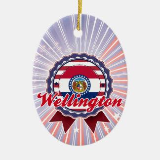 Wellington, MES Adorno Ovalado De Cerámica