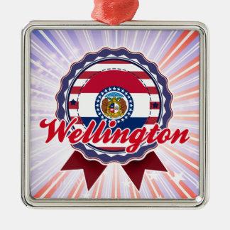Wellington, MES Adorno Cuadrado Plateado