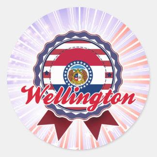 Wellington, MES Pegatina Redonda