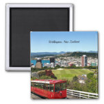 Wellington, New Zealand 2 Inch Square Magnet
