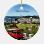 Wellington, New Zealand Double-Sided Ceramic Round Christmas Ornament