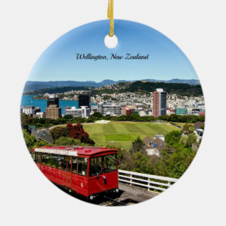 Wellington, New Zealand Double-Sided Ceramic Round Christmas Ornament