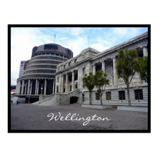 wellington nz parliament postcard