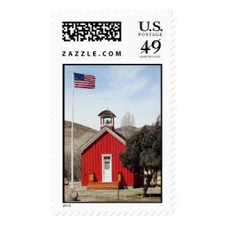 Wellington One-Room Schoolhouse Postage Stamp