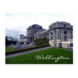 wellington parliament green postcard