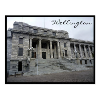wellington parliament postcard