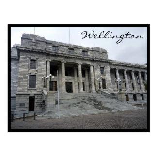 wellington parliament postcard