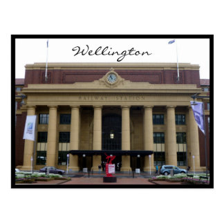 wellington rail way postcard