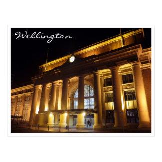 wellington railway postcard