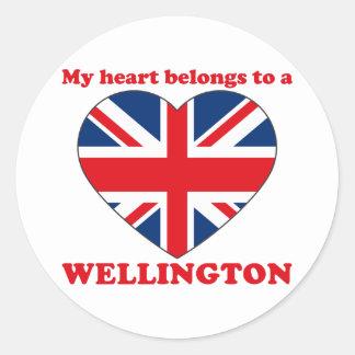 Wellington Round Stickers