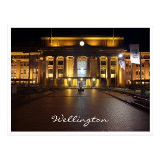 wellington train station postcard
