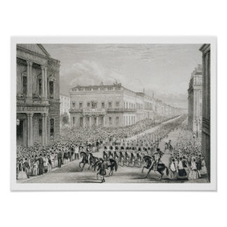 Wellington's Funeral Procession passing the Senior Poster