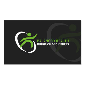 Wellness and Nutrition Coach Business Card Template