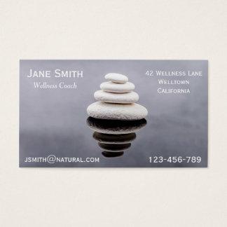Wellness Coach Zen stones Business Card