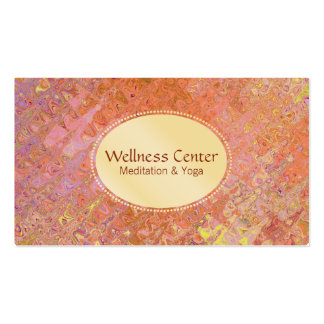 Wellness | Gold , Stained Glass Business Card